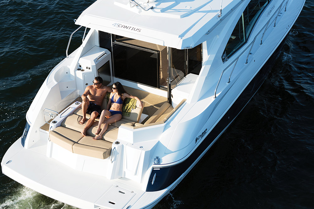 Exterior of a Cruiser Yachts 45 Cantius