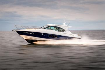 Water Shot of a Cruisers Yachts 45 Cantius