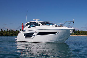 Water Shot of a Cruisers Yachts 46 Cantius