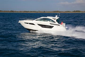 Water Shot of a Cruisers Yachts 50 Cantius