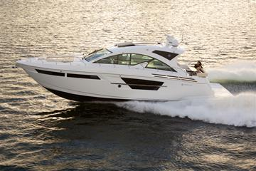 Water Shot of a Cruisers Yachts 54 Cantius