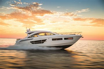 Water Shot of a Cruisers Yachts 60 Cantius